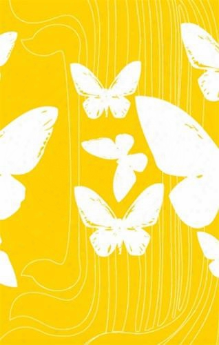 Sample Of Butterflies Wallpaper In Yellow And White- Kreme