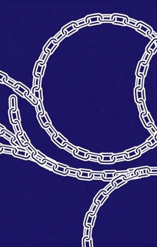 Sample Of Chains Wallpaper In Navy And White - Kreme