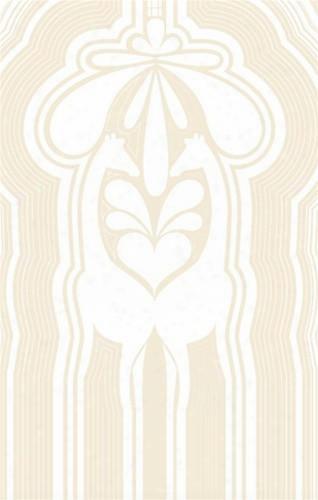 Sample Of Giraffe Stripes Wallpaper In White And Ivory - Kreme