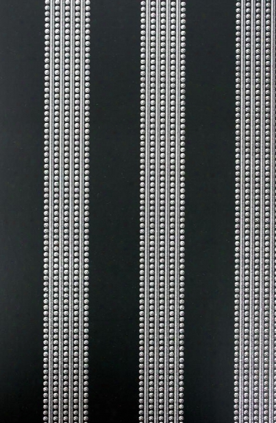 Sample Paillons Wallpaper In Black And Silver From The Cabochon Collection By Osborne & Little