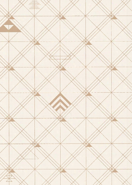 Sample Trellis Wallpaper In Caramel By Cavern Home
