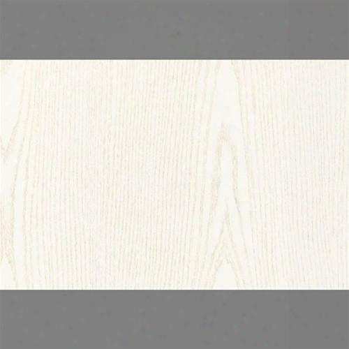 Sample White Pearl Self-adhesive Wood Grain Contact Wallpaper By Burke Decor