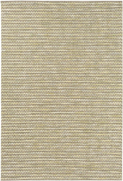 Santa Cruz Outdoor Rug In Camel & Gra$s Green Design By Surya
