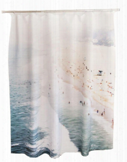 Santa Monica Shower Curtain Design By Elise Flashman