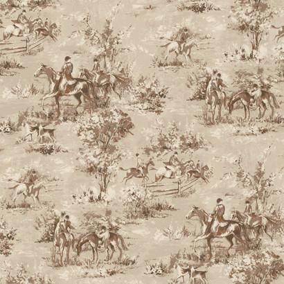 Saratoga Wallpaper In Beige Design By Ronald Redding