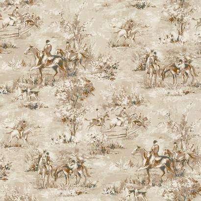 Saratoga Wallpaper In Soft Beige Design By Ronald Redding