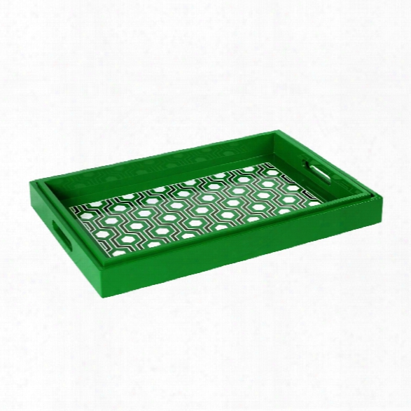 Sasoon Rectangle Nesting Trays In Green Design By Bungalow 5