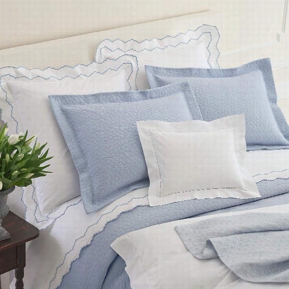 Sassolino Delphinium Matelasse Coverlet Design By Luxe