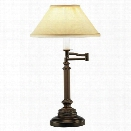 Abbey Bronze Swing Arm Table Lamp design by Jonathan Adler