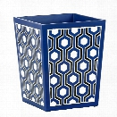 Sasoon Waste Basket in Blue design by Bungalow 5