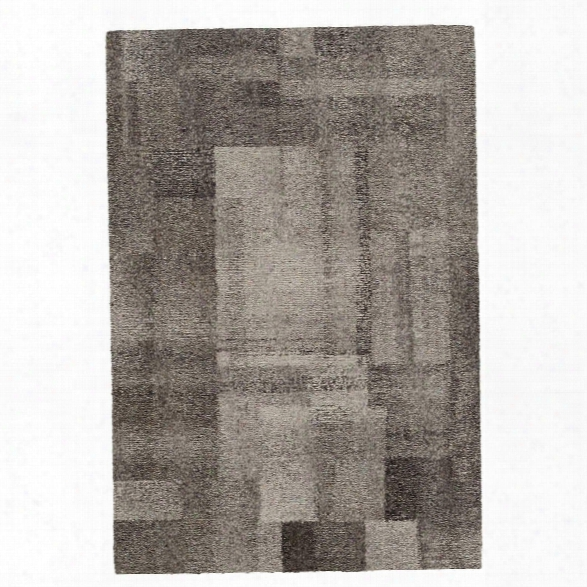 Cinder Micro Hooked Wool Rug Design By Dash & Albert