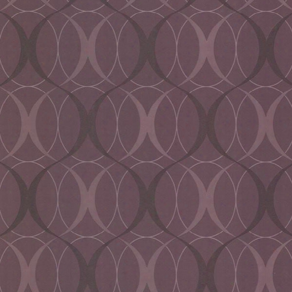 Spread Purple Retro Orb Wallpaper Design By Brewster Home Fashions