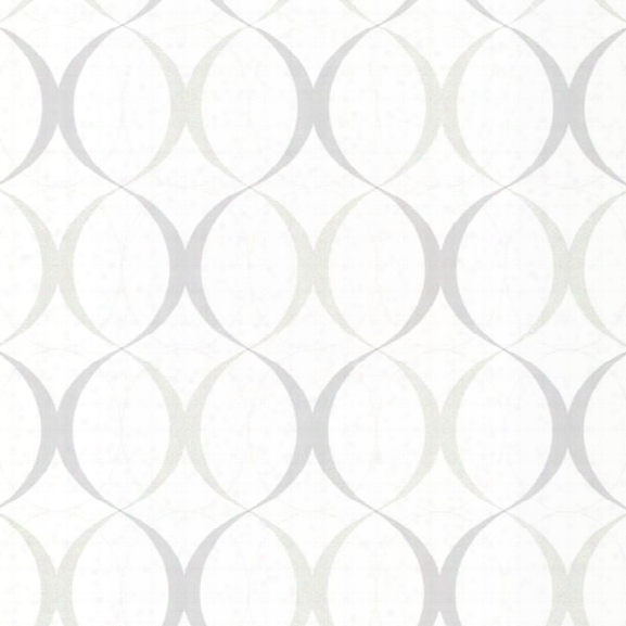 Circulate White Retro Orb Wallpaper Design By Brewster Home Fashions