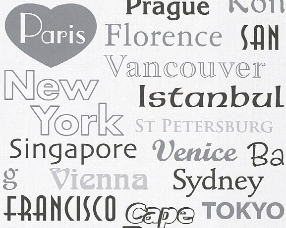 Cities Wallpaper In Grey Design By Bd Wall
