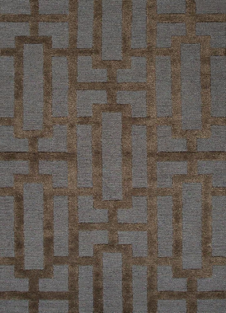 City Collection Dallas Rug In Deep Blue & Black Coffee Design By Jaipur