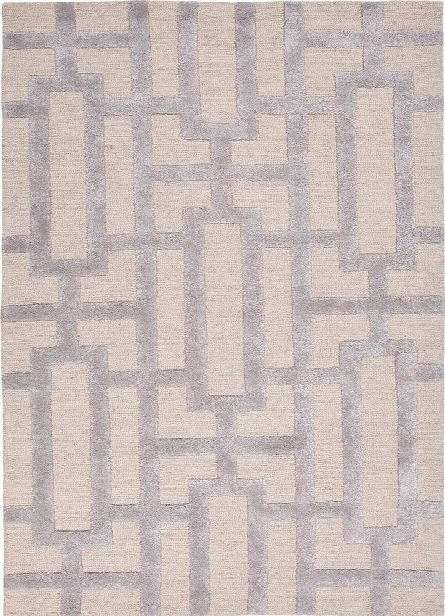 City Collection Dallas Rug In Silver Gray & Medium Gray Design By Jaipur