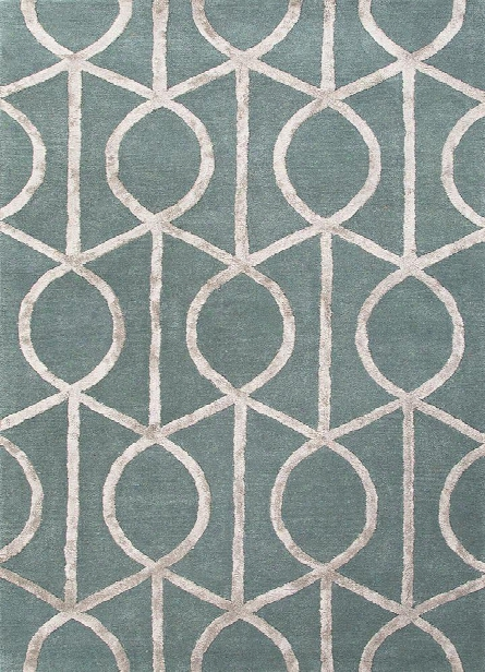 City Collection Seattle Rug In Seaside Blue & Medium Gray Design By Jaipur