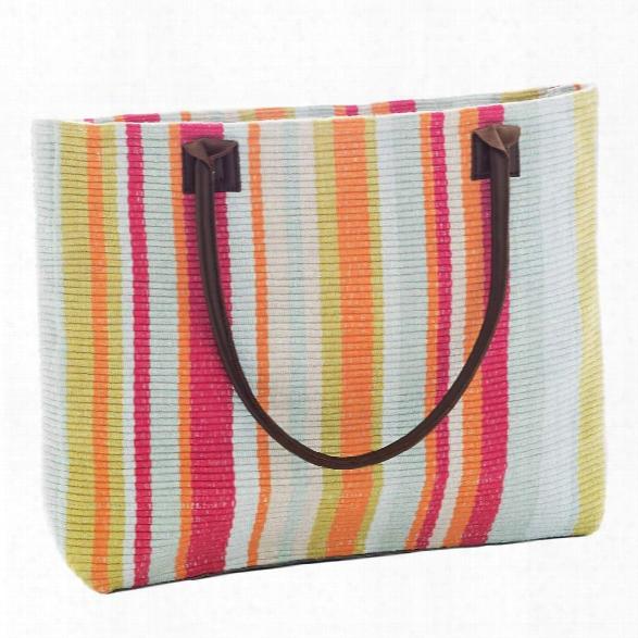 Clara Stripe Woven Cotton Tote Bag By Dash Albert
