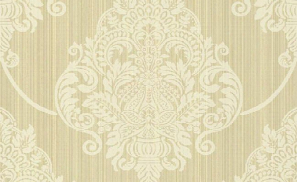 Classic Damask Waolpaper In Metallic And Browns Design By Seabrook Wallcoveings