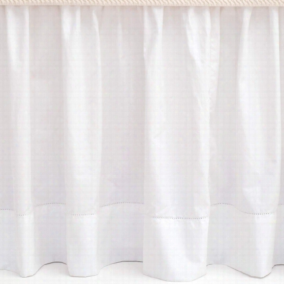 Classic Hemstitch White Bed Skirt Design By Pine Cone Hhill