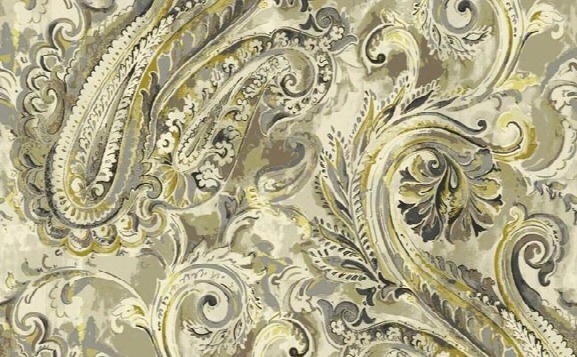 Classic Paisley Wallpaper In Cream And Metallic Design By Seabrook Wallcoverings