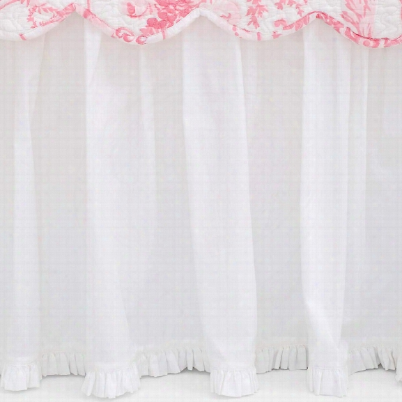 Classic Ruffle White Bed Skirt Design By Pine Cone Hill