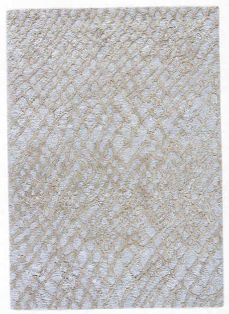 Clayton Rug In Silver Blue & Silver Sage Design By Jaipur