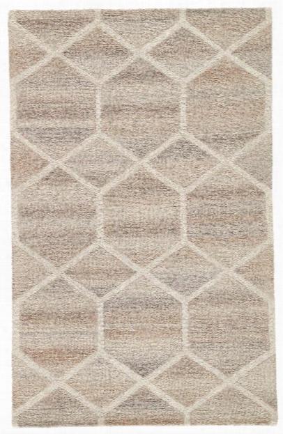 Cleveland Handmade Geometric Gray & Cream Area Rug Design By Jaipur