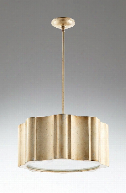 Cloud Nine Aged Silver Leaf Pendant Lamp Design By Cyan Design