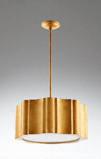 Cloud Nine Gold Leaf Pendant Lamp Design By Cyan Design