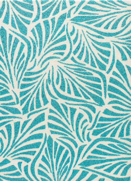 Coastal Lagoon Rug In Teal & Cloud Cream Design By Jaipur