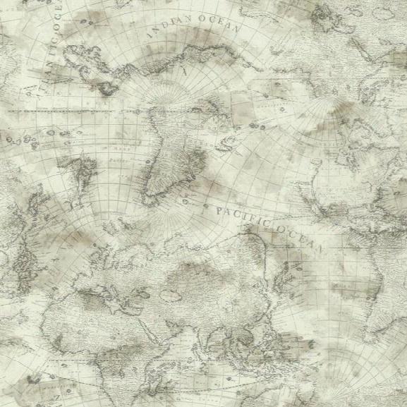 Coastal Map Wallpaper In Beige Design By York Wallcoverings