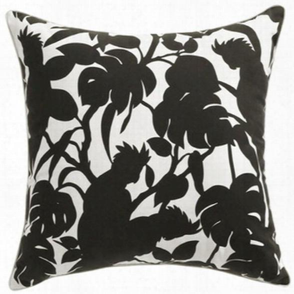 Cockatoos Black Pillow Design By Florence Broadhurst
