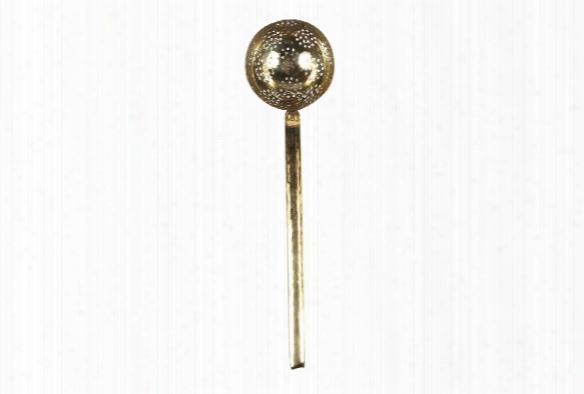 Colander Ladle In Solid Brass Design By Sir/madam