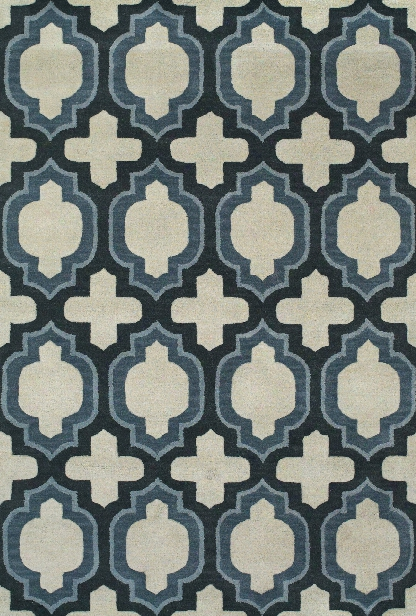 Colonnade Collection Hand Tufted Wool Area Rug In Blue By Bd Fine