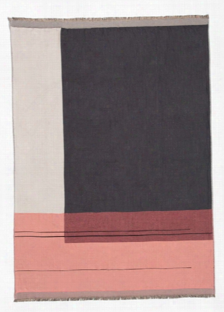 Color Block Throw In Rose Design By Ferm Living