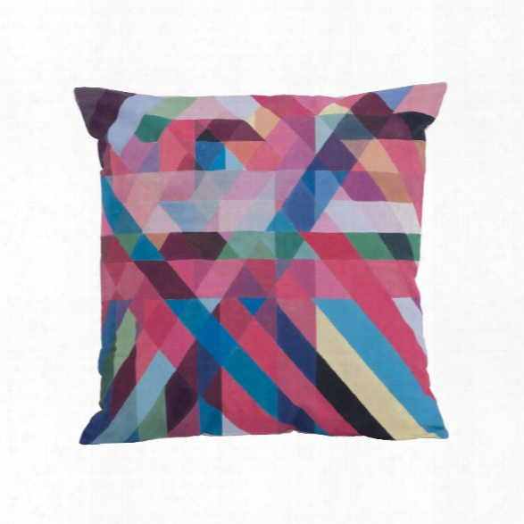 Color Ribbons Pillow Design By Lazy Susan