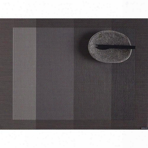 Color Tempo Rectangle Table Mat In  Slate Design By Chilewich