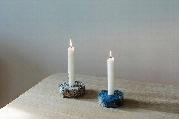 Colored Marble Candle Holder In Various Colors & Shapes By Fs Objects