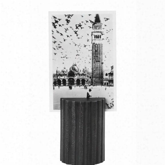 Column Card Stand In Black Brass Design By Ferm Living