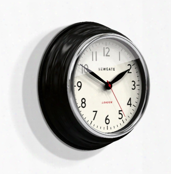 Cookhouse Wall Clock In Black Design By Newgate