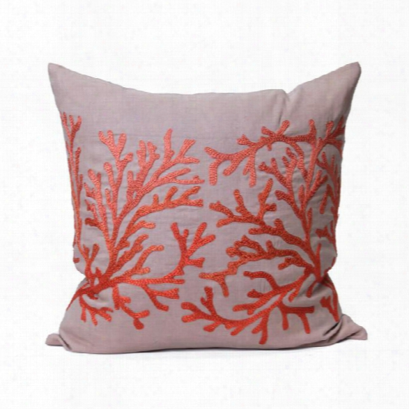 Coral Pillow In Persimmon Design By Bliss Studio