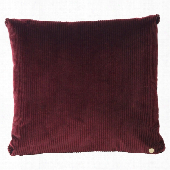 Corduroy Cushion In Burgundy Design By Ferm Livelihood