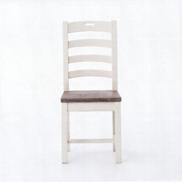 Cornwall Ladder Back Dining Chair In Stucco White