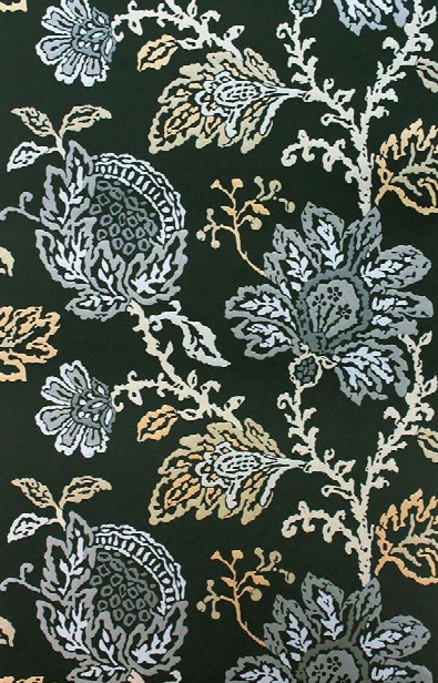 Coromandel Wallpaper In Black, Gold, And Silver By Nina Campbell For Osborne & Little