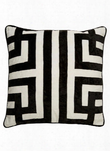 Cosmic Pillow In Marshmallow & Jet Black Design By Nikki Chu