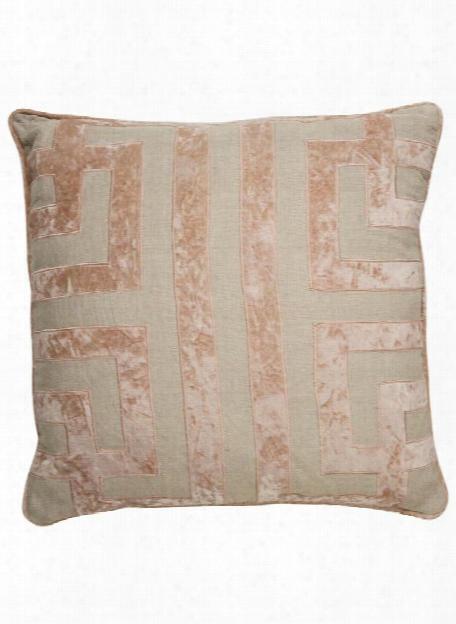 Cosmic Pillow In Oatmeal & Cuban Sand Design By Nikki Chu