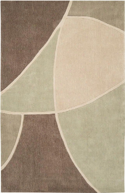Cosmopolitan Collection Area Rug In Sage Green, Sand, And Tan Design By Surya