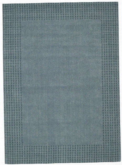 Cottage Grove Collection Coastal Village Wool Area Rug In Ocean - Kathy Ireland Home By Nourison