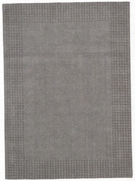 Cottage Grove Collection Coastal Village Wool Area Rug In Steel - Kathy Ireland Home By Nourison
